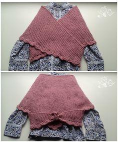 PATRÓN PARA TEJER UNA TOQUILLA DE NESKA | Mientras Cuchufleta Duerme Baby Knitting Patterns, Knitting For Kids, Easy Knitting, Crochet For Kids, Crochet Patterns, Chat Crochet, Diy Crochet, Crochet Baby, Knitted Poncho