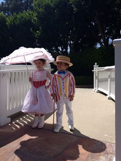 So cute!  Children's Disney costume ~ Mary Poppins and Bert!