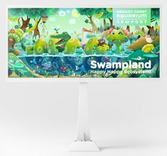 Zuttoworld - Swampland Billboard for Oregon Coast Aquarium