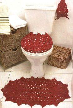 """Delicadezas en crochet Gabriela: WC """"Juego de baño"""""""