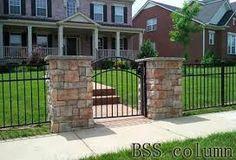 Imagini pentru fences with stone columns
