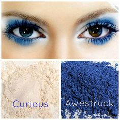 Gorgeous eye make up with these royal blue (awestruck) and shimmery cream (curious) Younique mineral pigments. I like using Curious pigment as a highlighter under the brown and in the inner corners. Look Here, Look At You, Younique Eye Pigments, Makeup Younique, 3d Fiber Lashes, Pigment Powder, Mineral Powder, 3d Fiber Lash Mascara, Gorgeous Eyes