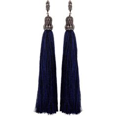 Lanvin Black Tassel Earrings ($580) ❤ liked on Polyvore featuring jewelry, earrings, accessories, jewels, black, drop earrings, post earrings, tassel earrings, earring jewelry and lanvin