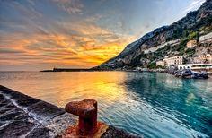 Amalfi sunset by Giuseppe Maria Galasso on 500px