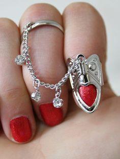 Heart Nail Ring