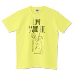 love smoothie 01   デザインTシャツ通販 T-SHIRTS TRINITY(Tシャツトリニティ)