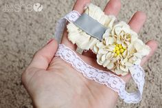 Vintage Sequin Flower Headband tutorial