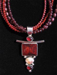 Jak deer Bone Necklace by Taos jeweler, Jacqueline Gala