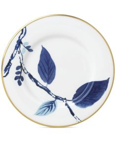 The cool, chic florals of kate spade new york's Blue Birch Way Dinnerware create a fresh, modern look for sophisticated dining. Beautiful white bone china is the perfect backdrop for this elegant pattern and gold banding completes the look. Dinnerware Sets, Casual Dinnerware, White Dinnerware, Mens Gift Sets, Fine China, Gold Bands, Bones, Eye Makeup, Kate Spade