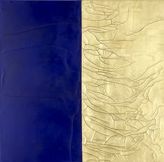 SACRO TERRA LAPIS LAZULI (2011)  Sacro Terra Lapis Lazuli Size: 61 x 61 x 4cm Material: 22 carat gold leaf, wax, natural earth pigment & gesso on canvas & board Date: 2011 Status: Available