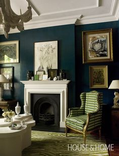 Sophisticated Jewel-Toned Living Room | Photo Gallery: Lacquered Walls | House & Home | Photo by Chris Tubbs