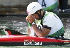 Daniele Molmenti vince la medaglia d'oro nel K1 slalom a Londra. «Meglio di così oggi non si poteva fare, sono riuscito a migliorare dei piccoli errori che avevo fatto. Sono contento» (Afp/Morin)