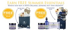 Join for $199 kit and receive a FREE summer essential kit