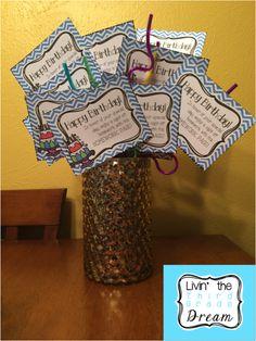 Birthday crazy straws are ready to go! Do you have your class birthday treats ready?