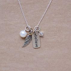 Believe Angel Wing Necklace