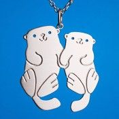 Otters Holding Hands Necklace