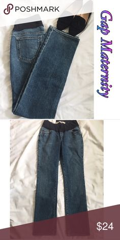 NWT Gap Maternity Jeans NWT Gap barely showing slim fit jeans. 3 1/2 inch stretch panel. Size 4. Inseam approximately 31 inches. 98% cotton/2% spandex GAP Jeans Straight Leg