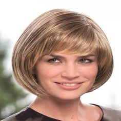 Vidal Cut Ladies Wig by Gisela Mayer. Fabulous bob that offers a few styling variations. Available in stunning colours for a mix and match. Made from high quality synthetic hair and has a monofilament top. Modern Hairstyles, Pixie Hairstyles, Straight Hairstyles, Short Hair Cuts, Short Hair Styles, Monofilament Wigs, Blond, High Quality Wigs, Wig Making