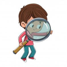 Boy with a magnifying glass looking for something - Dibustock, Ilustraciones infantiles de Stock Art Drawings For Kids, Art For Kids, Comic Character, Character Design, School Scavenger Hunt, Dont Touch My Phone Wallpapers, Lupe, Kids Background, Boy Illustration