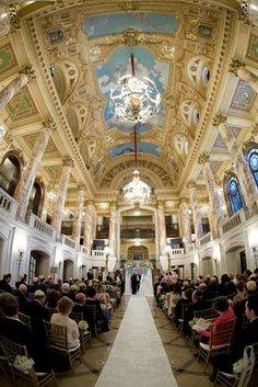 Wang Theater - Lobby Ceremony, cocktails downstairs, upstairs after for drinks and food