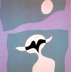 Man, mustache, navel - Jean Arp - Abstract, Dada