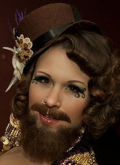 Inspiration & accessories for your DIY bearded lady halloween costume idea Freak Show Costumes, Freak Show Halloween, Halloween Circus, Circus Costume, Halloween Costumes, Halloween Makeup, Halloween Ideas, Halloween 2019, Halloween Party