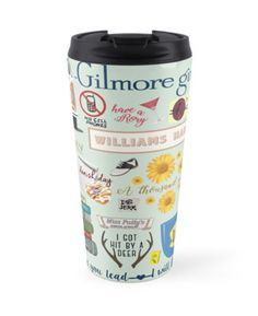 So many favorites from Gilmore Girls! A stack of classic novels, Hep Aliens sandwich tour bus, Rory's 21st birthday cocktail, and what's a danish without  a cup of coffee from Luke's Diner? • Also buy this artwork on home decor, apparel, stickers, and more.