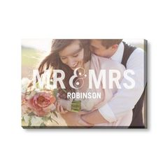 Mr And Mrs Canvas Print | Wall Art
