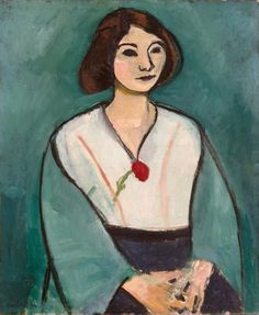 Henri Matisse (France, 1869-1954) Woman in Green with a Carnation, 1909.