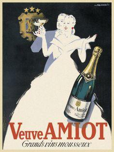 Affiche Veuve Amiot #vin #publicité