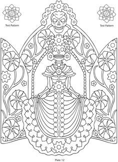 day of the dead hand embroidery patterns - Google Search