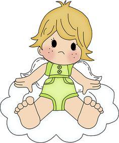 Dibujos. Clipart. Digi stamps - Angel Baby Boy