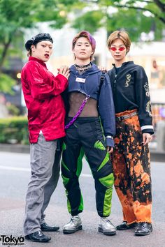 "Harajuku Streetwear Styles w/ Nirvana ""In Utero"" Tattoo, John Lawrence Sullivan, Kidill, Unverge & ESC Studio Asian Street Style, Tokyo Street Style, Japanese Street Fashion, Tokyo Fashion, Harajuku Fashion, Korean Fashion, Fashion Men, Street Styles, Korean Street"