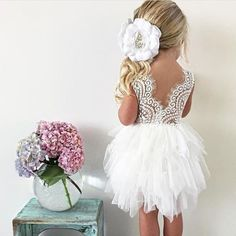 White Lace Flower Girl Dress, Infant Blush Pink Tulle Wedding dress, White Wedding, Tutu, Boho Chic, Country, Couture, Pearl Bead Detail, wedding, diy decor, flower girl, etsy, home made diy, lace, rustic wedding, spring wedding, summer wedding, beach wedding,  fall wedding,  winter wedding, spring wedding  #afflink