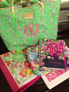 Back to school with Lilly and monograms!