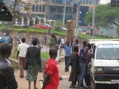 A typical street scene in Kigali