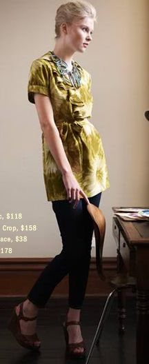 Yellow Tunic Outfit: Originally from Anthropologie