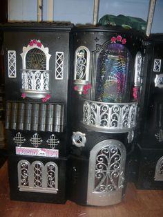 Ooak custom Monster high themed house. $178.09, via Etsy.