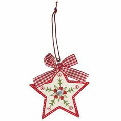 Scandinavian Jewelled Star Christmas Decoration - wondering if I could make this myself its a timber star as the base