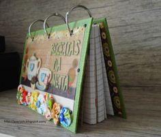 Caderno de Receitas – Presente personalizado! – Recipes Book – Special Gift! – Modelo com fuxico | Love to Keep