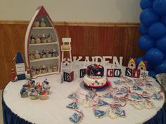"""Photo 1 of 19: Sailor/nautical / Baby Shower/Sip & See """"Ahoy it's a boy Nautical Baby Shower""""   Catch My Party"""