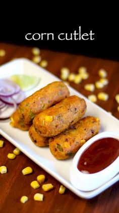 corn cutlet recipe, corn kabab, crispy corn kebab recipe with step by step photo/video. deep fried veg kabab recipe from corn shells for snack or appetizer. Veg Kabab Recipe, Pakora Recipes, Cutlets Recipes, Paratha Recipes, Kebab Recipes, Paneer Recipes, Veg Recipes, Spicy Recipes, Kitchen Recipes