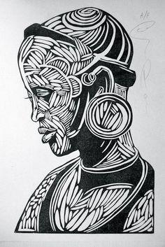 Resultado de imagem para african tribal woodcut prints