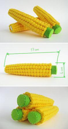 Jeu feutre alimentaire « Gros maïs Set » (3 pc) par « MyFruit » Je suggère que vous achetiez réaliste peluches, en feutre et molleton, pour vos petits.