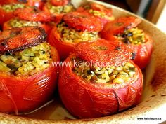 """Follow One of the observations I often hear about Greek cuisine is that the food tastes so much better than over here in North America, and often many wonder """"why?"""" Greek cuisine shines when ingredients are used that are in season, and when it's the middle of summer, that means tomatoes! I was recently sent … … Continue reading →"""