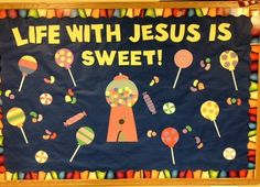 Jesus is Sweet Display, classroom displays, class display, religion, Jesus, christian, sweets, Early Years (EYFS), KS1 & KS2 Primary Teaching Resources