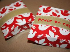 Small gift boxes from old cards (Great way to reuse your Christmas and Birthday Cards)