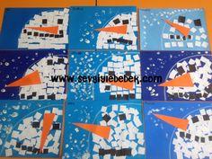 kare ile kardan adam sanat etkinliği