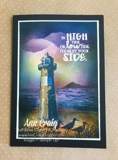 Stampin' Up!® Australia: Ann Craig - distINKtive STAMPING designs: Create a Seaside Scene With High Tide Stamp Set.