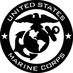 US Marine Corps USMC Abstract Metal Wall by Cre8iveMetalDesigns